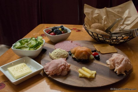 First Course : Meat, Fish and Cheese Plate