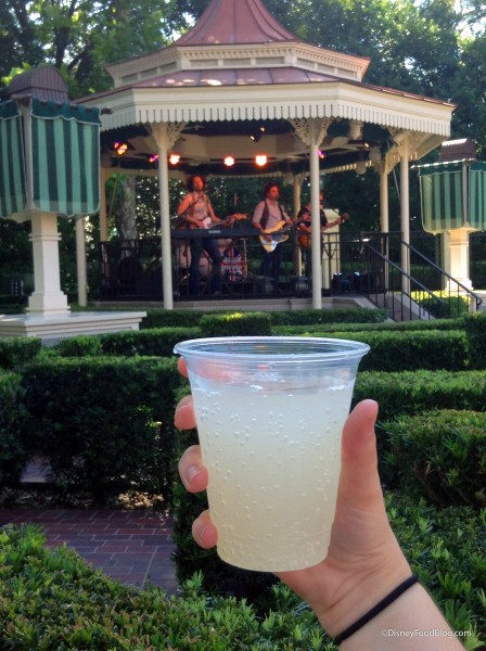 Drinking a Crabbie's Cloudy Lemonade During The British Revolution Show