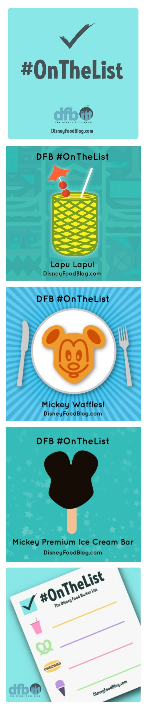 Check out what is on the Disney Food Blog's Disney Food Bucket List and what should be on yours!