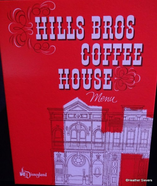 Hills Bros Coffee House Menu