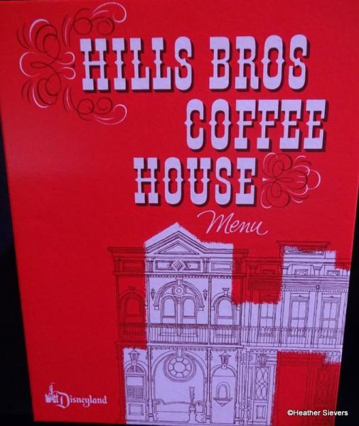 Hills Bros Coffee House Menu