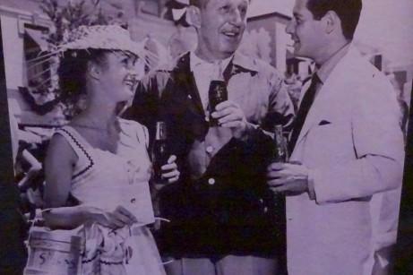 Walt Drinking a Coke on Opening Day