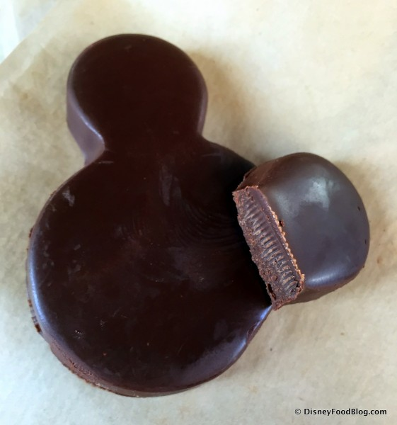 Dark Chocolate Chili Pepper Mickey -- Inside