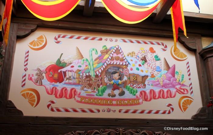 Artwork Outside -- Pinocchio at Pleasure Island
