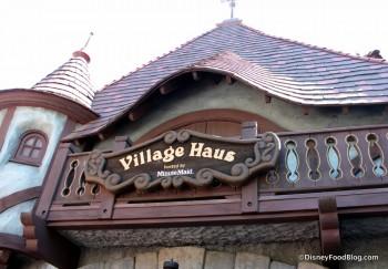 Disneyland Village Haus Outside Sign 15