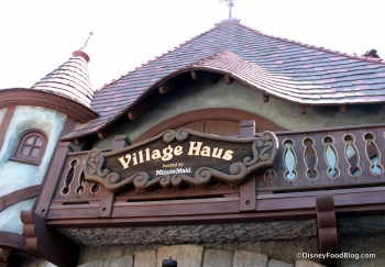 Disneyland Village Haus Outside Sign 15