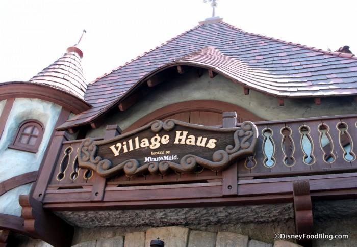 Village Haus Sign