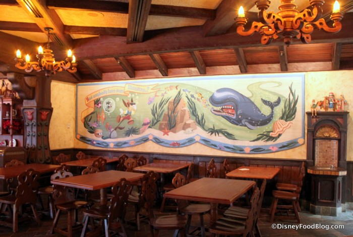 Pinocchio Mural Inside the Seating Area