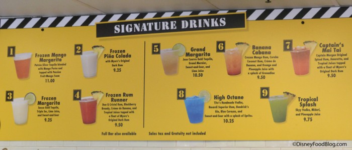 Signature Drinks at High Octane