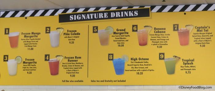 Signature Drinks at High Octane