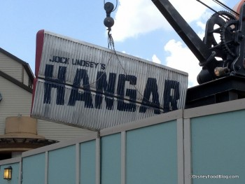 Jock Lindey's Hangar Bar sign