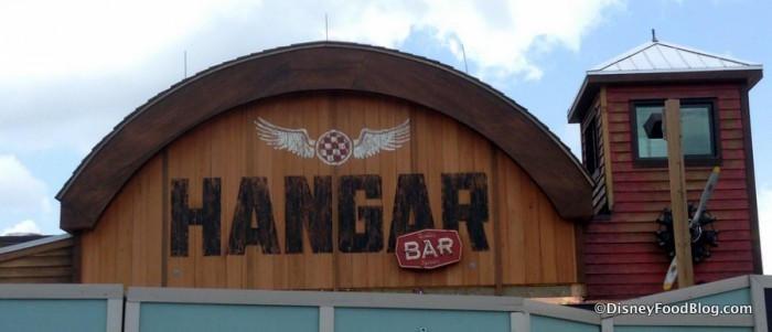 Jock Lindey's Hangar Bar under construction