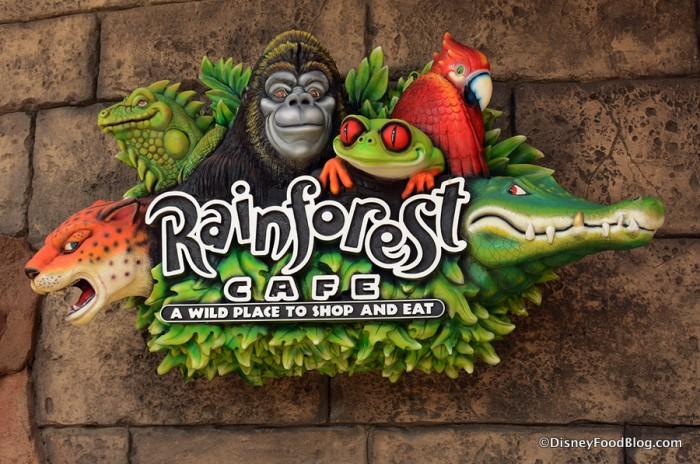 Rainforest Cafe sign