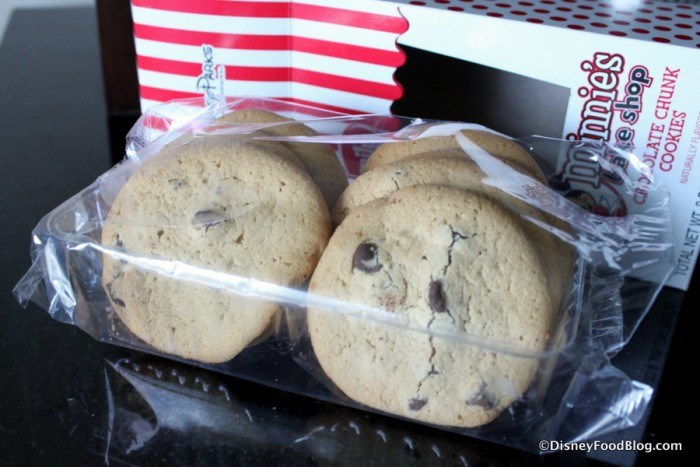 Minnie's Bake Shop Chocolate Chunk Cookies outside of box