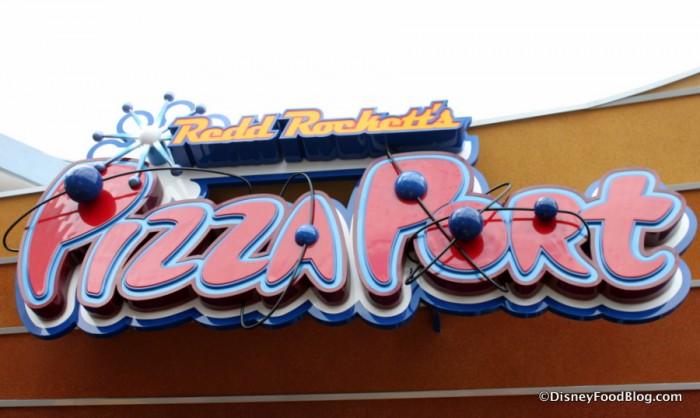 Redd Rocket's Pizza Port sign
