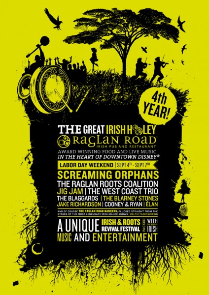 Raglan Road's 4th Annual Great Irish Hooley Will Be Held Labor Day Weekend, September 4-7