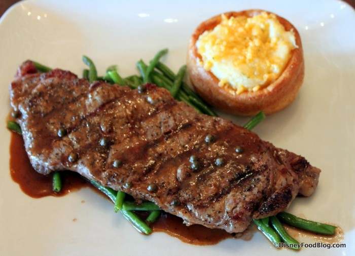 New York Strip Steak with Loaded Yorkshire Pudding