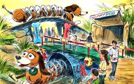 Toy Story Land concept art ©Disney