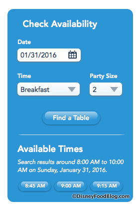 Screen Shot be our guest restaurant advance dining reservation