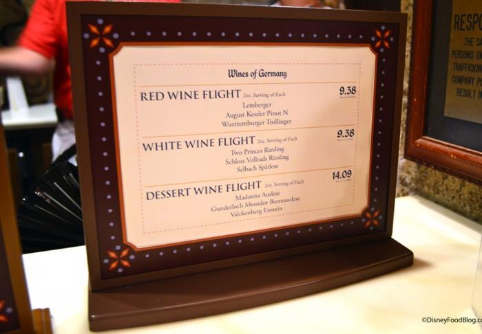 Wine Flight Options