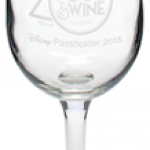 Commemorative Wine Glass for WDW Passholders at the Epcot Food and Wine Festival