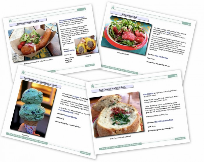 DFB Guide to Animal Kingdom and Hollywood Studios Snacks Sample Pages