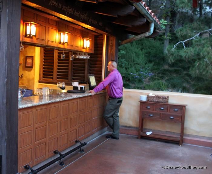 Al Fresco Tasting Terrace Service Bar