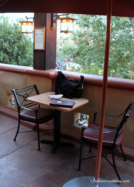 Al Fresco Tasting Terrace Seating