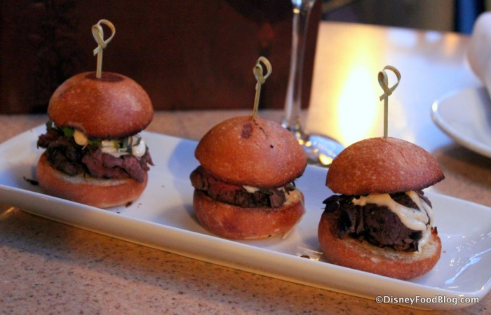 Trio of Beef Tenderloin Sliders