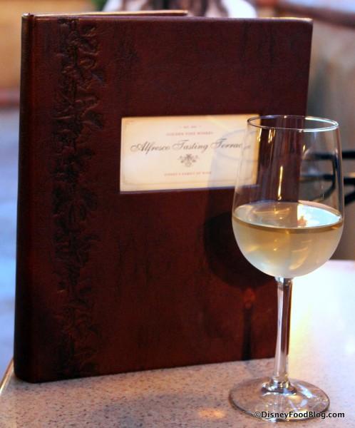 Chardonnay at Alfresco Tasting Terrace