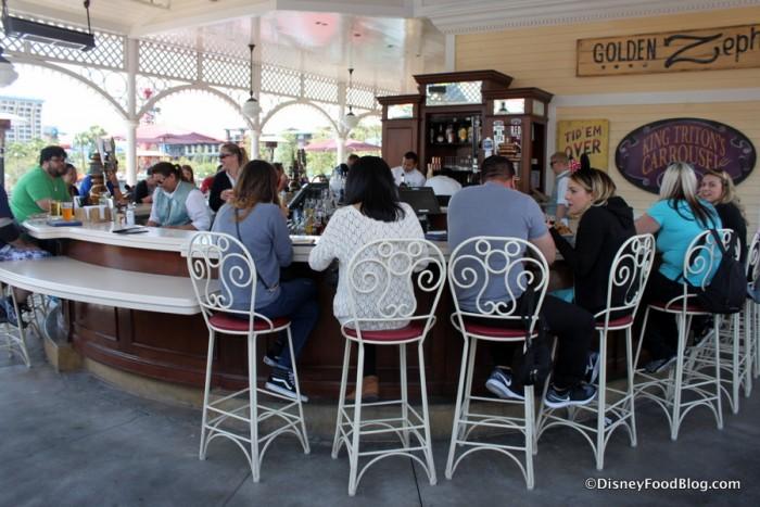 Bar Seating at Cove Bar