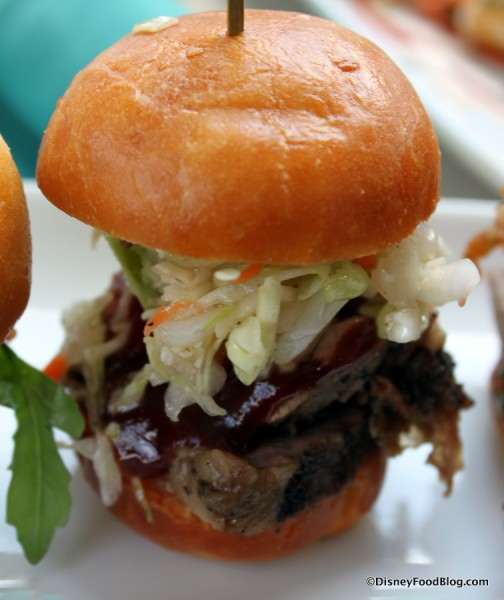 Barbecue with Tangy Slaw Slider