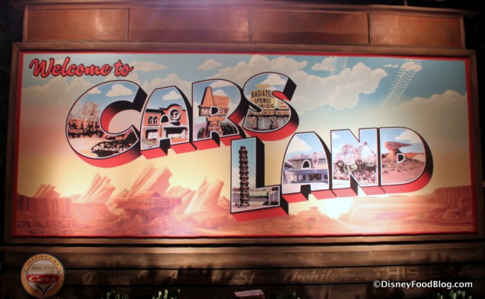 Cars Land Sign