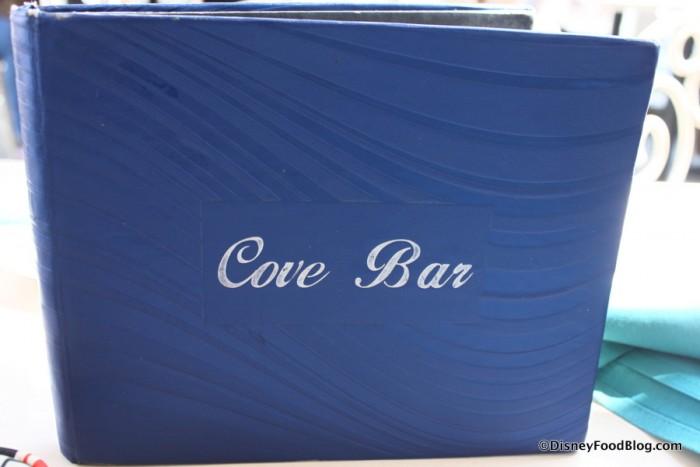 Cove Bar Menu Cover