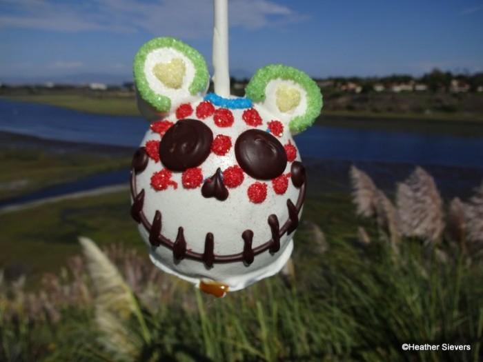 Mickey Sugar Skull Caramel Apple