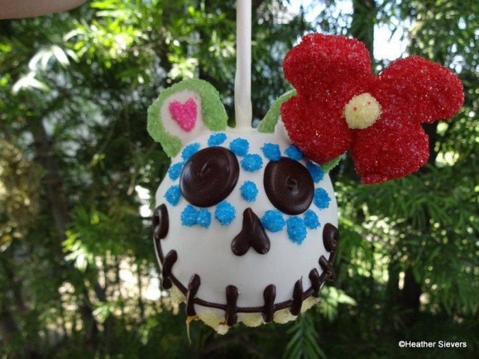 Minnie Mouse Sugar Skull Caramel Apple