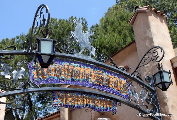 Disneyland Rancho del Zocalo_15_-Ironwork sign