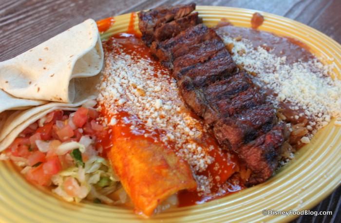 Carne Asada & Red Chile Enchilada Platter