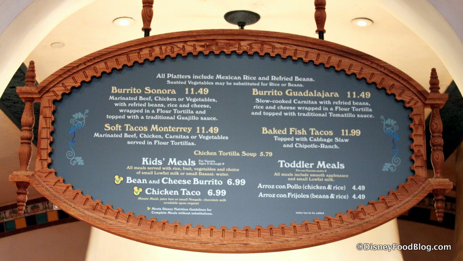 Review rancho del zocalo in disneylands frontierland the disney rancho del zocalo menu fandeluxe Image collections