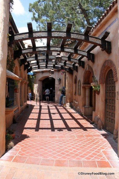 Walkway Leading into the Restaurant