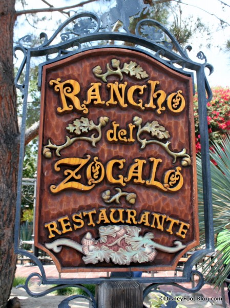 Disneyland Rancho del Zocalo Sign