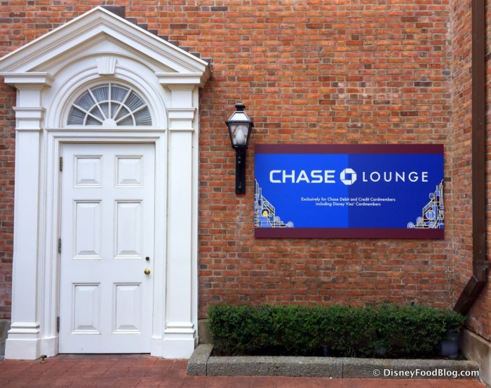 Chase Lounge Entrance in the America Pavilion at the 2015 Epcot Food and Wine Festival