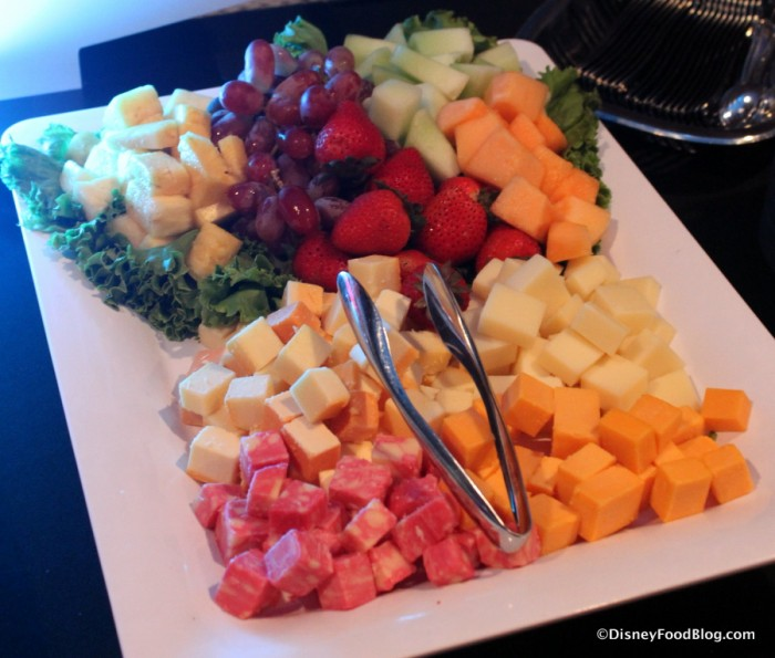 Fruit and Cheese Assortment -- Up Close
