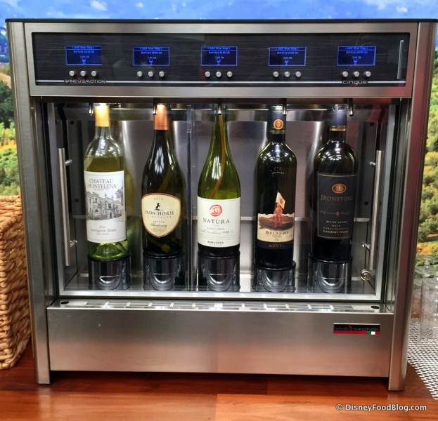 New at the Festival -- Wine Sampling Machines