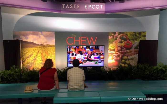 """Festival Stage Showing Clips from """"The Chew"""""""