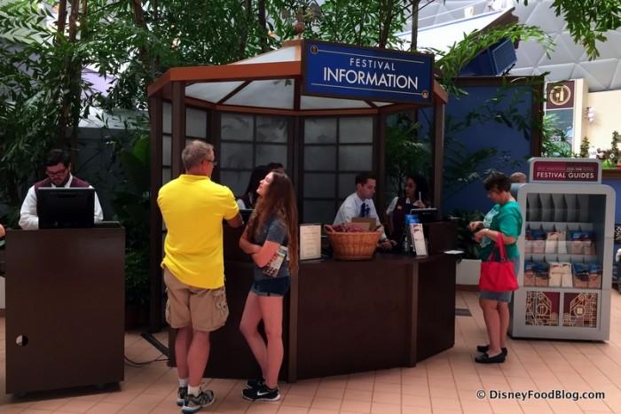 Information Desk at Festival Center