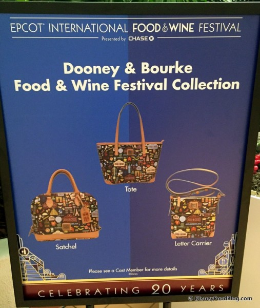 Dooney & Bourke Food & Wine Festival Collection Information