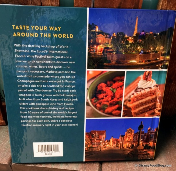 Food and Wine Festival Cookbook -- Back Cover