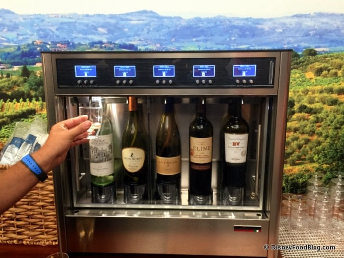 Guest with the Wine Tasting Machines
