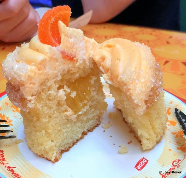 Orange Cupcake -- Cross Section